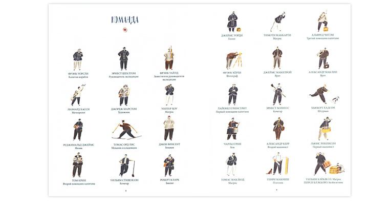 Иллюстрация Уильяма Грилла к книге «Затерянные во льдах Экспедиция Шеклтона»