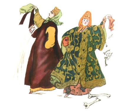 2 Иллюстрация Татьяны Мавриной к сказке «Царевна-лягушка»