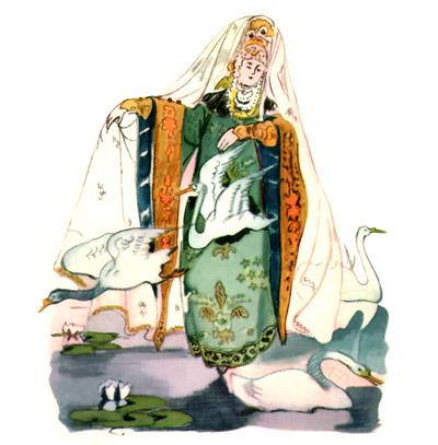 3 Иллюстрация Татьяны Мавриной к сказке «Царевна-лягушка»