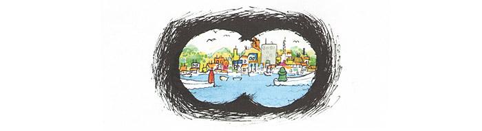 Иллюстрация Якоба Мартина Стрида к книге «Невероятная история о гигантской груше»