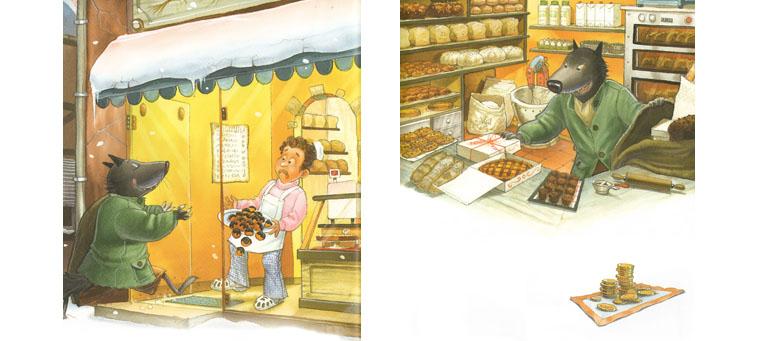 1 Иллюстрации Мишеля Деруйё к книге Жюли Бинд «Страшный милый волк»