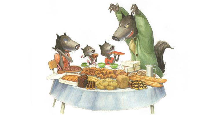 Иллюстрация Мишеля Деруйё к книге Жюли Бинд «Страшный милый волк»