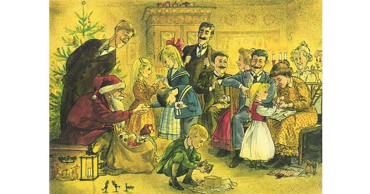 2 Иллюстрация Свена Нурдквиста к книге «Рождественская каша»