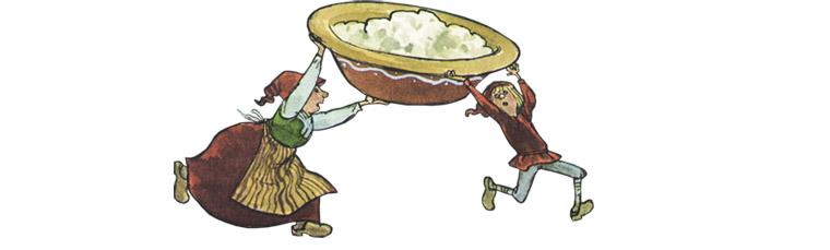 3 Иллюстрация Свена Нурдквиста к книге «Рождественская каша»