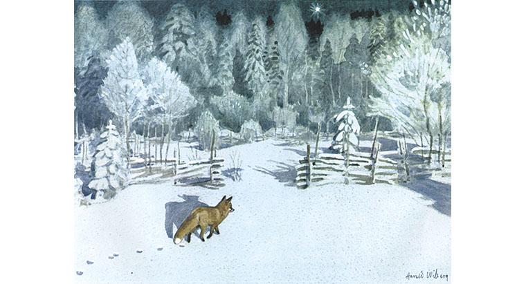 Иллюстрация Харальда Виберга к книге Астрид Линдгрен «Томтен»