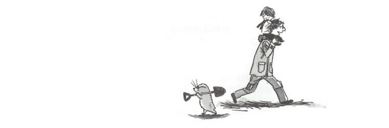 2 Иллюстрации Косиро Хаты к книге Нобуко Икитавы «Когда папа приходит поздно»