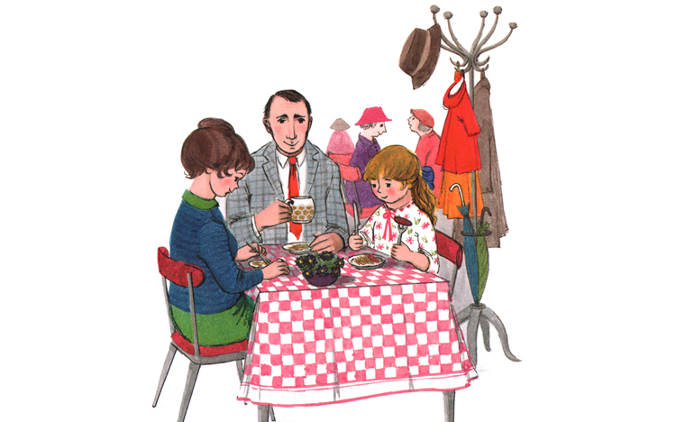 2 Иллюстрация Джудит Керр к книге «Тигр, который пришел выпить чаю»