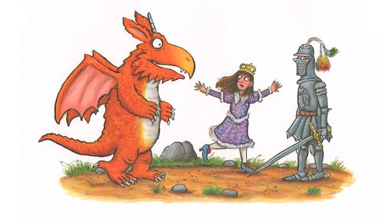 Иллюстрация Акселя Шеффлера к книге Джулии Дональдсон «Зог»
