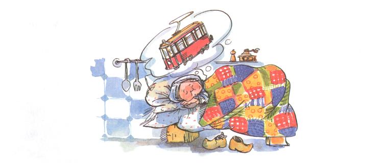 Иллюстрация Натальи Кучеренко к книге Анне-Катарины Вестли «Папа, мама, бабушка, восемь детей и грузовик»