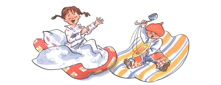 2 Иллюстрация Натальи Кучеренко к книге Анне-Катарины Вестли «Папа, мама, бабушка, восемь детей и грузовик»