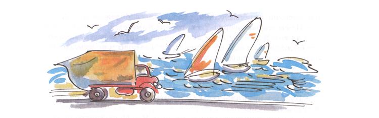 3 Иллюстрация Натальи Кучеренко к книге Анне-Катарины Вестли «Папа, мама, бабушка, восемь детей и грузовик»