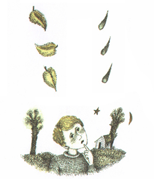 1 Иллюстрация Лидии Шульгиной к книге стихов Ирины Пивоваровой «Потерялась птица в небе»
