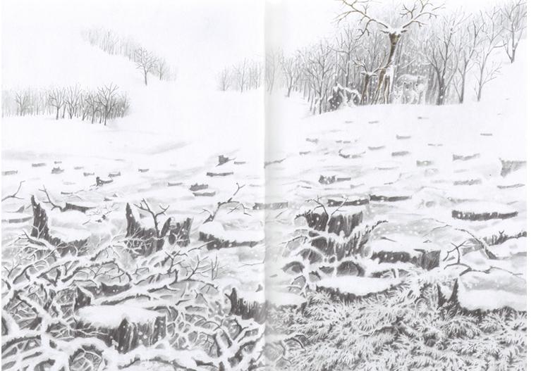 Иллюстрация из книги «Снежный олень»