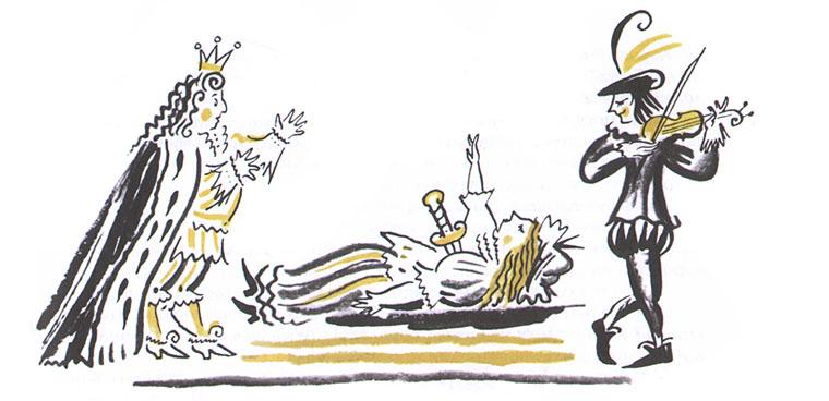 Иллюстрация из книги «Галльский петух рассказывает»