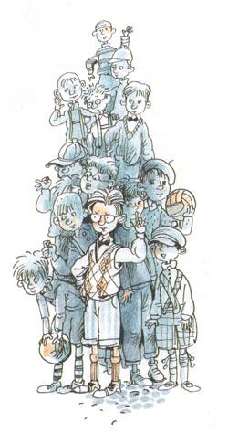 Иллюстрация Евгении Двоскиной к книге Эриха Кёстнера «Эмиль и сыщики»