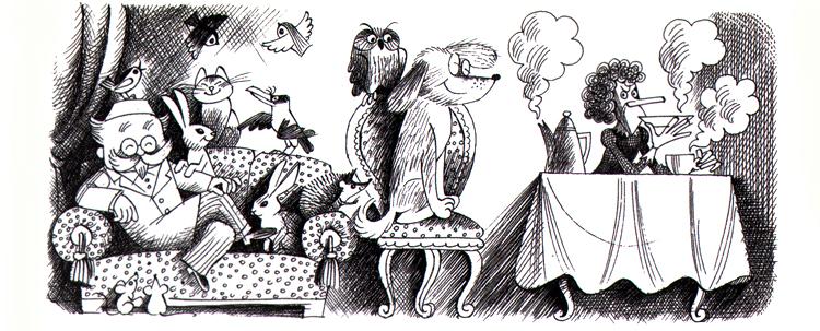 4 Иллюстрация Виктора Чижикова к сказочной повести Корнея Чуковского «Доктор Айболит»
