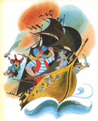 2 Иллюстрация Виктора Чижикова к сказочной повести Корнея Чуковского «Доктор Айболит»