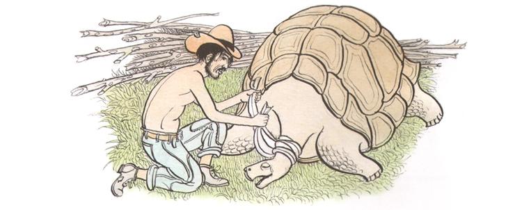 Иллюстрация Петра Багина к книге Орасио Кирога «Сказки сельвы»