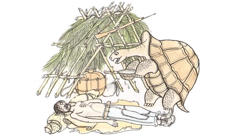 1 Иллюстрация Петра Багина к книге Орасио Кирога «Сказки сельвы»