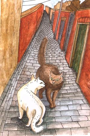 Иллюстрации Нины Кузьминой  к книге Пола Гэллико «Дженни»