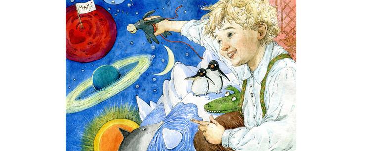 2 Иллюстрации Людмилы Пипченко к книге Елены Ракитиной «Приключения новогодних игрушек»