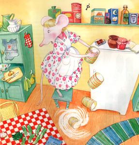 Иллюстрация Алики Калайды к книге Дины Сабитовой «Мышь Гликерия»