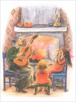 Иллюстрация Илон Викланд к книге Астрид Линдгрен «Как Лисабет засунула в нос горошину»