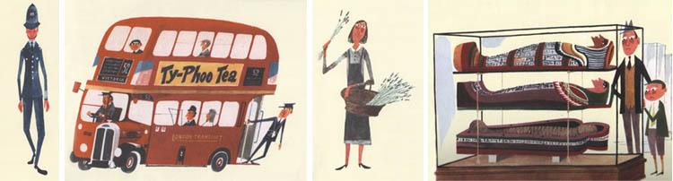 Иллюстрации Мирослава Шашека к книге «Это Париж»