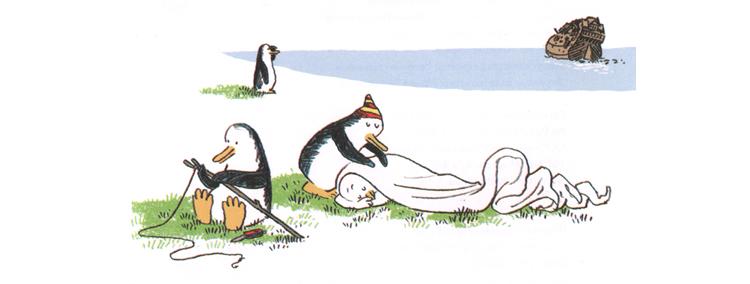 Иллюстрация Йорга Мюле к книге Ульриха Хуба «Ковчег отходит ровнов в восемь»