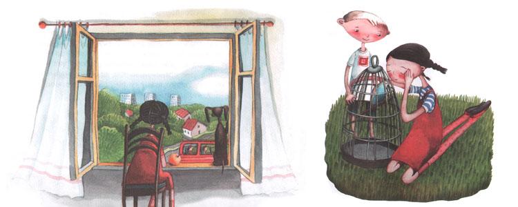 Иллюстрации Саши Ивойловой к книге Марии Бершадской «Большая маленькая девочка»
