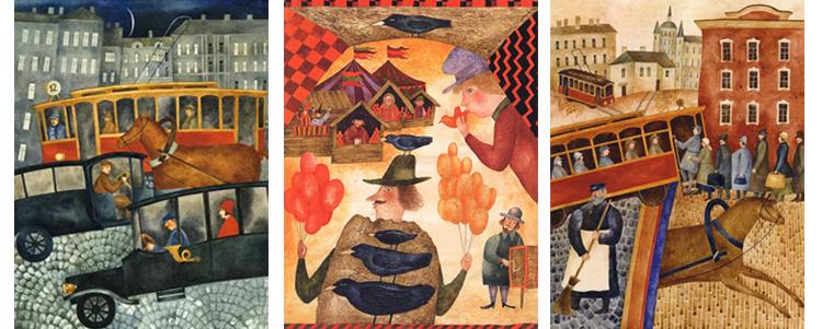 Иллюстрации Веры Павловой к книге Осипа Мандельштама «Сонные трамваи»