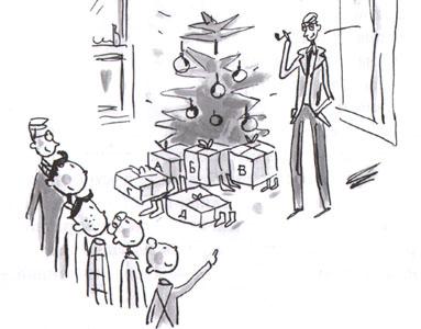 Иллюстрация Доминика Корбасона к книге Жана-Филиппа Арру-Виньо «Омлет с сахаром»
