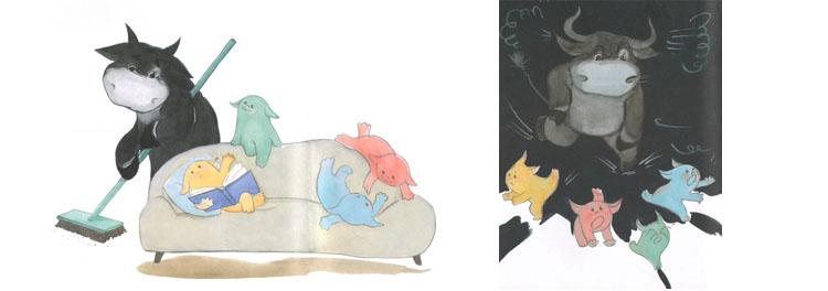Иллюстрации Елены Кубышевой к книге Ирины и Леонида Тюхтяевых «Зоки и Бада»