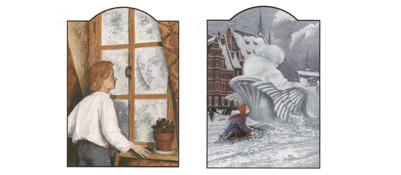 Иллюстрации Бритвина к сказке Андерсена «Снежная королева»