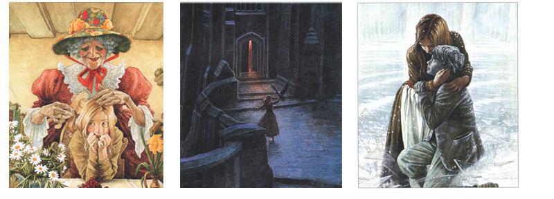 Иллюстрации Линча к сказке Андерсена «Снежная королева»