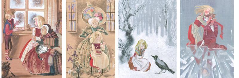 Иллюстрации Ники Гольц к сказке Андерсена «Снежная королева»