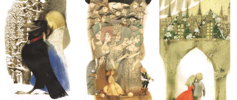 Иллюстрации Павла Татарникова к сказке Андерсена «Снежная королева»