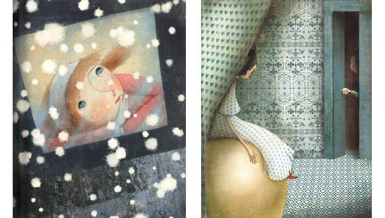 Иллюстрации Мануэлы Андреани к сказке «Снежная королева»