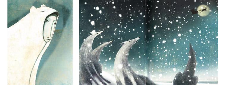 2 Иллюстрации Мануэлы Андреани к сказке «Снежная королева»