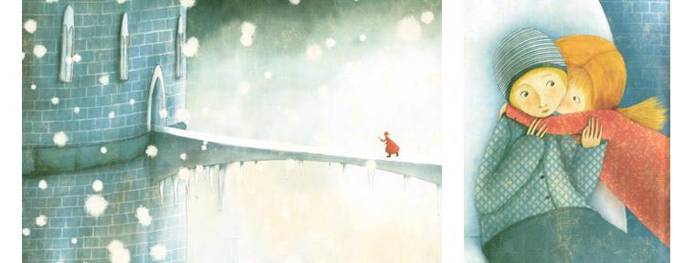 3 Иллюстрации Мануэлы Андреани к сказке «Снежная королева»