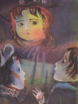 Иллюстрация Г.А.В. Траугот к книге Геннадия Черкашина «Кукла»