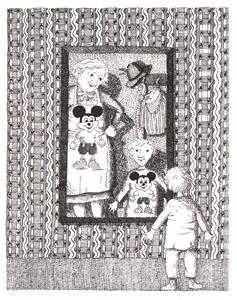 Иллюстрация Ротраут Сюзанны Бернер к книге Гудрун Мёбс «Бабушка! - кричит Фридер»