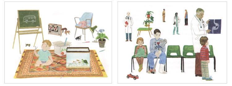 Иллюстрации Марии красновой-Шабаевой к книге Джуди Блум «Питер Обыкновенный или Младших братьев не выбирают»