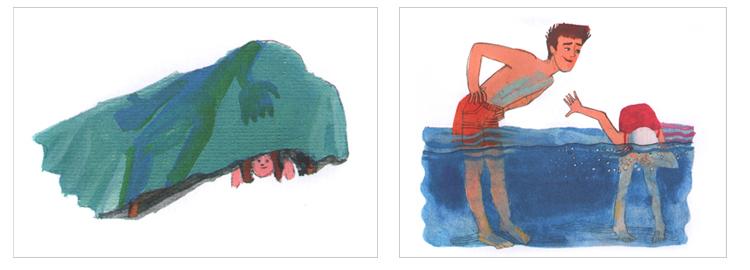 Иллюстрации Надежды Суворовой к книге Джуди Блум «Шейла Великолепная»