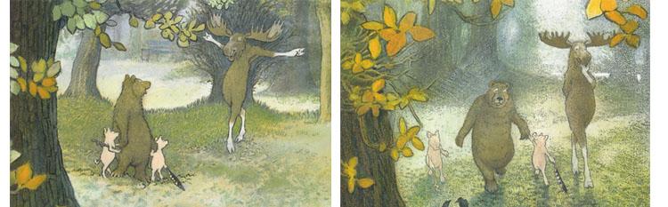 Иллюстрации Инги Мур к книге «Домик в лесу»