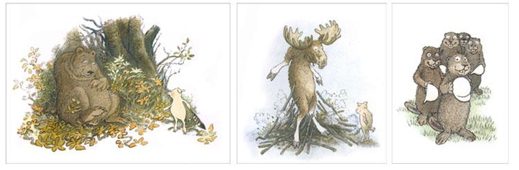1 Иллюстрации Инги Мур к книге «Домик в лесу»