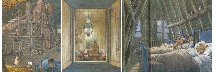 2 Иллюстрации Инги Мур к книге «Домик в лесу»