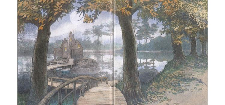 Иллюстрация Инги Мур к книге «Домик в лесу»