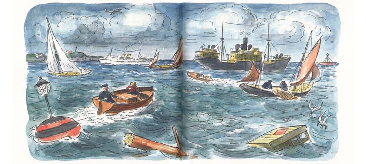 Иллюстрация Эдварда Ардиззона к книге «Тим и отважный капитан»