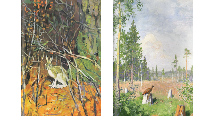 Иллюстрации Георгия Никольского к книге Ивана Соколова-Микитова «Год в леск»
